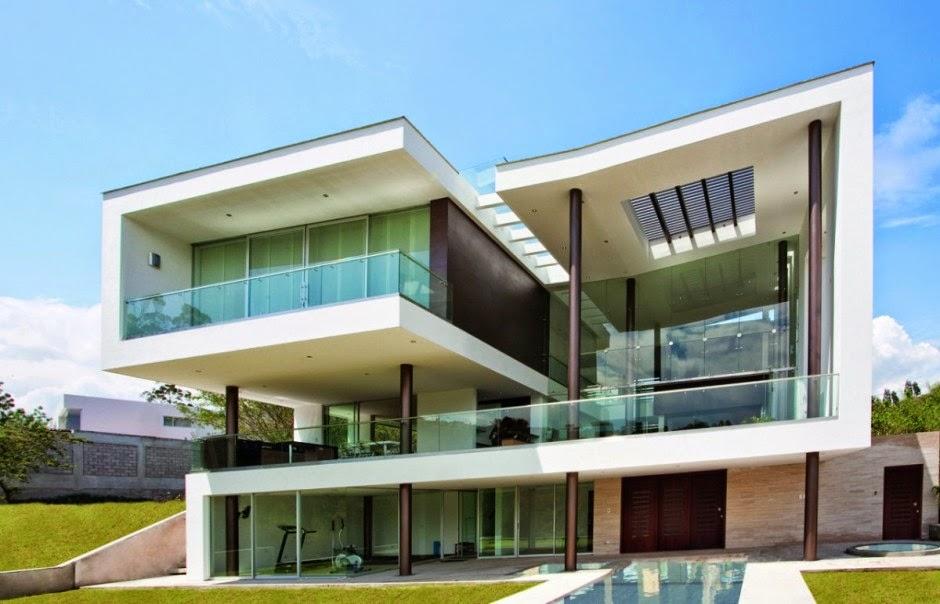 Fachadas de casas com vidro incolor verde azul fum - Casas de peliculas ...